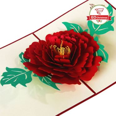 3D Flower Christmas Cards