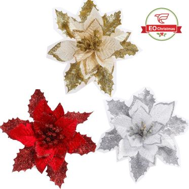 Artifical Flower Christmas Tree Ornaments