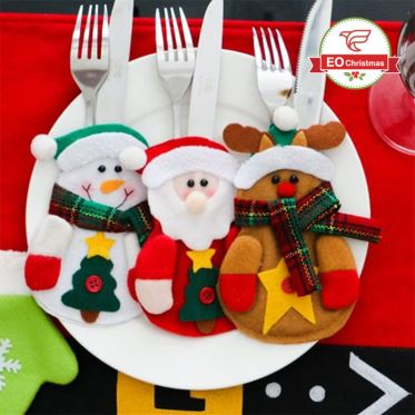 Christmas Knife Fork Hats Table Decoration