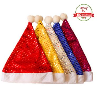 Glitter Party Christmas Hats