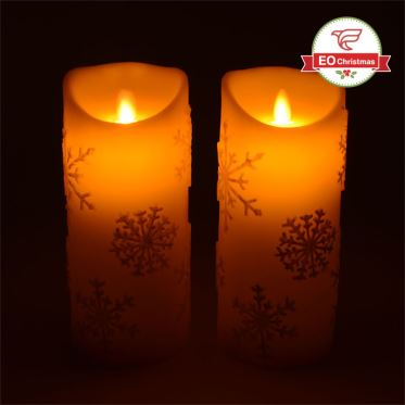 LED Flamless Christmas Candles