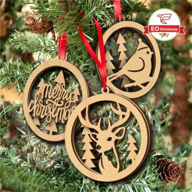 Letter Christmas Tree Ornaments