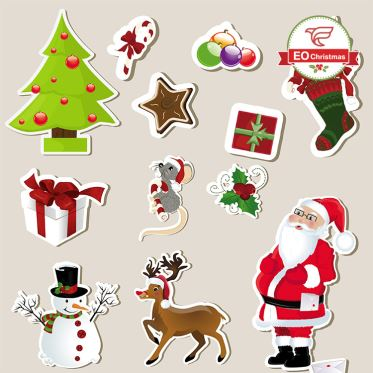 Mixed Christmas Stickers